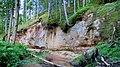 Kaļķupītes klintis pie Puiša kalna pilskalna.jpg