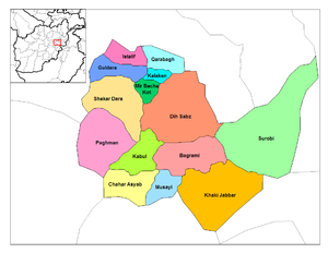 Kabul province is made up of 15 districts.