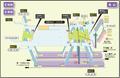 Kanayama station map Nagoya subway's Meijo line 2014.png