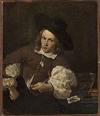 Portrait of a Young Man Seated Smoking