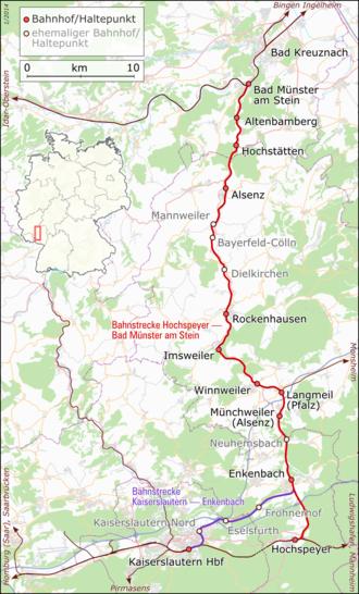 Alsenz Valley Railway - Route