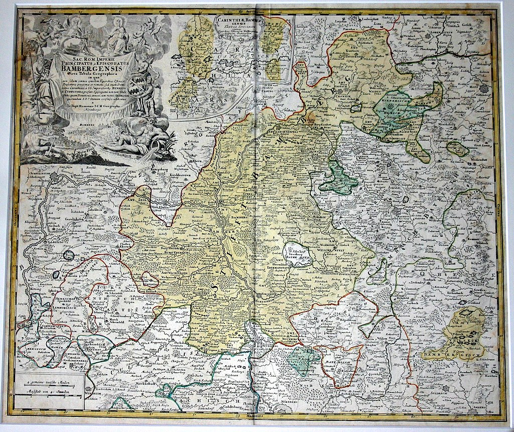 Karte Hochstift Bamberg
