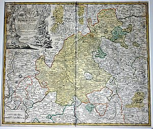 Prince-Bishopric of Bamberg - Hochstift Bamberg with its Carinthian estates, J.B. Homann, c.1700