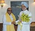 Karunanidhi with Manmohan1.jpg