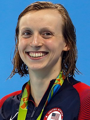 Swimming (sport) - Katie Ledecky set the Olympic records in 2016 for the 400 m and 800 m freestyle.