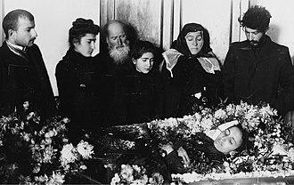 Kato Svanidze - Funeral of Kato Svanidze, with family and husband Stalin (right)
