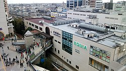 Kawagoe Station east entrance 20160320.JPG