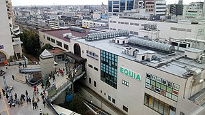 Kawagoe, Saitama - Kawagoe Station in March 2016