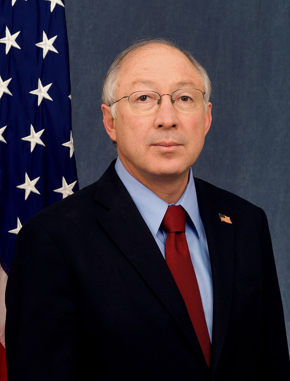 Ken Salazar official DOI portrait