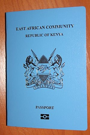 Kenyan passport - The front cover  a contemporary Kenyan passport.
