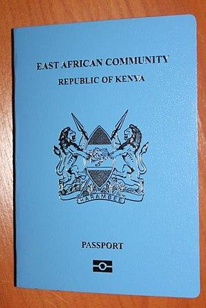 Kenyan passport - The front cover  a contemporary Kenyan passport.