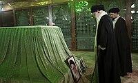 Khamenei at Khomeini tomb 2019.jpg