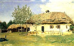 Ukrainian house painting by Repin