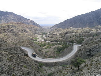 Khyber Pass - The pass connects Landi Kotal to the Valley of Peshawar.