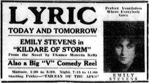 Kildare of Storm -  Newspaper add.