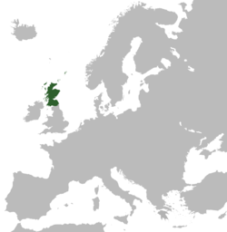 Location o the Kinrick o Scotland in Europe.