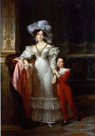 François Kinson - François Joseph Kinson, Comtesse de MacMahon and Her Grandson Jules Bessequier, c.1825-30