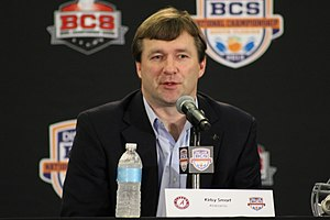 Kirby Smart - Smart at a press conference in 2013