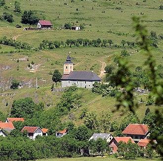 Dabar, Lika-Senj County - Image: Kirche von Dabar