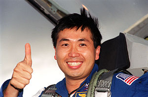 Koichi Wakata - Wakata giving a thumbs-up as he arrives at Kennedy Space Center for the launch of the STS-92 mission.