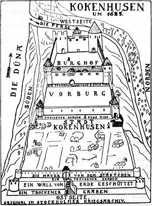 Storm of Kokenhusen - Image: Koknese 1625