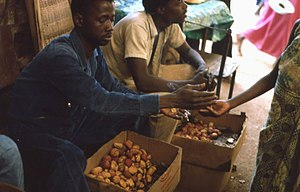 Market in Kedougou, Senegal - Kola nuts (photo...