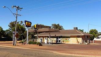 Golden Fleece Company - A Golden Fleece roadhouse in Kondinin, Western Australia, photographed in 2014