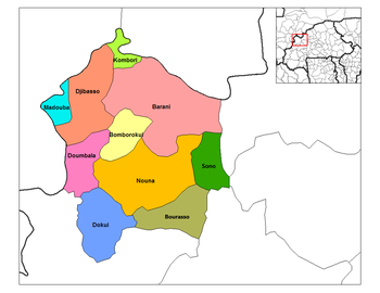 Kombori Department location in the province