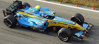Heikki Kovalainen - Kovalainen testing for Renault F1 in 2006, at Valencia