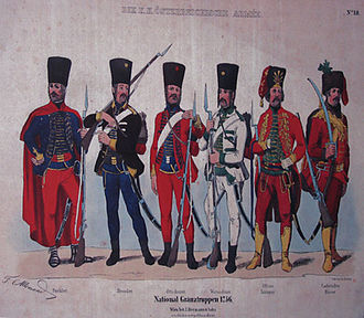 Military Frontier - Various Frontier troops, 1756.