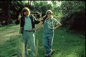 Werner Krieglstein - Werner and Maryann Krieglstein posing on their Michigan farm in the late 1970s