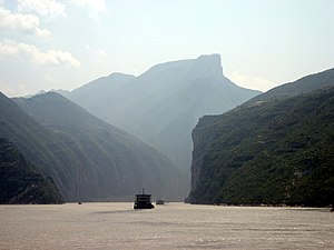 "Kuizhou - Kuimen (夔門/夔门): the ""Gateway of Kuizhou"", Qutang Gorge (formerly Kui Gorge, or 夔峡, Kuixia), along the Yangzi River."