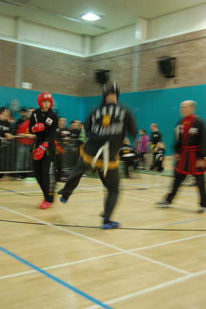 Kuk Sool Won - Kuk Sool Won black belts sparring at a tournament