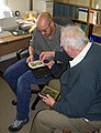 Kurt Adams identifying finds whilst he was North Lincolnshires FLO.jpg