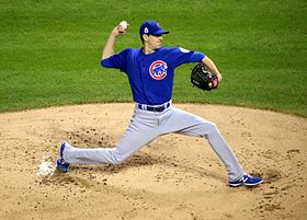 Kyle Hendricks first inning Game 7 2016 World Series.jpg