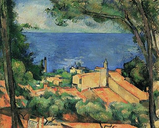 L'Estaque aux toits rouges, par Paul Cézanne