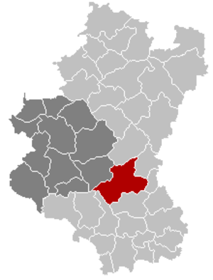 Léglise - Image: Léglise Luxembourg Belgium Map