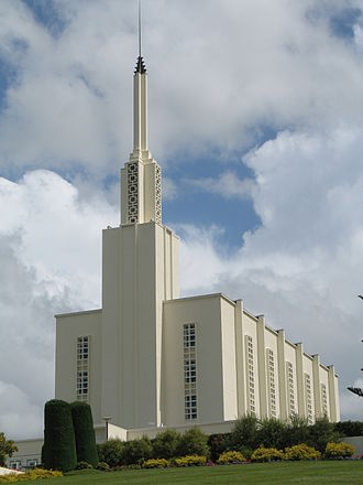 Religion in New Zealand - The Hamilton New Zealand Temple of the Church of Jesus Christ of Latter-day Saints