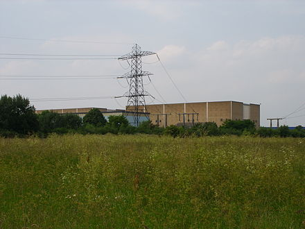 Tottenham Substation, set in wild parkland in North London. LEB substation, Tottenham Marshes.JPG
