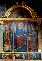 altarpiece of St. Martha with St. Lazarus