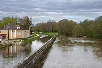 Accolay, Yonne - View from the Cure and the Accolay Canal in Accolay