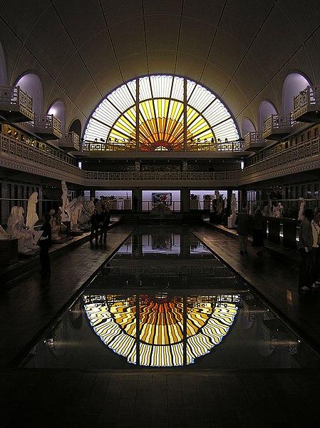"The former pool area of the Musée d'art et d'industrie (""La Piscine"") in Roubaix, France"