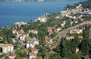 Mount Mottarone between Lake Maggiore and Orta...