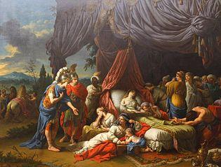 La mort de la femme de Darius, Lagrenée (Louvre INV20142)