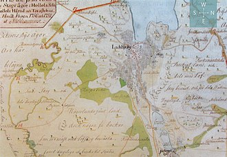 Lahti - A map of Lahti made by Nils Westermark in 1750–52