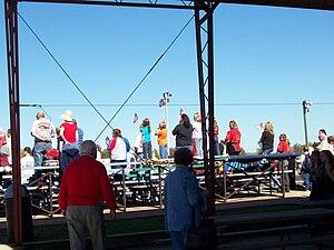 Lake Geneva Raceway - Fans during the final national anthem