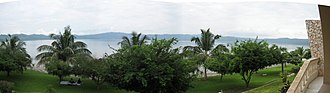 Lake Bosumtwi - Image: Lake Bosumtwi Panorama
