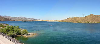 Lake Mohave - View across the surface of Lake Mohave.