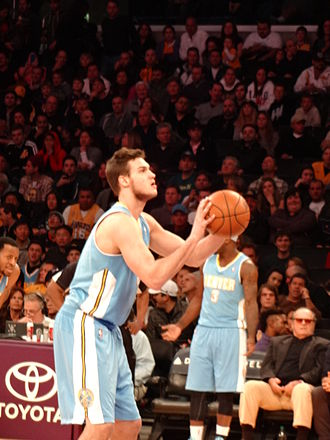 Danilo Gallinari - Gallinari shooting a free throw for the Denver Nuggets in 2013
