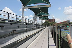 Lamar Tennis Courts – View of the grandstands